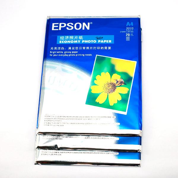 3 XẤP GIẤY IN ẢNH EPSON A4 210 GSM Liên Hệ: (028) 3.5164578 - 3.5164579