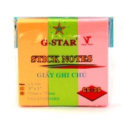 GIẤY NOTE G-STAR 3 MÀU Liên Hệ: (028) 3.5164578 - 3.5164579