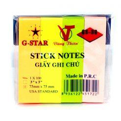 GIẤY NOTE G-STAR 4 MÀU Liên Hệ: (028) 3.5164578 - 3.5164579