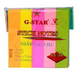 GIẤY NOTE G-STAR 5 MÀU Liên Hệ: (028) 3.5164578 - 3.5164579