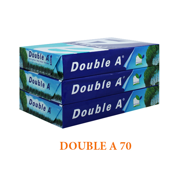 GIẤY IN DOUBLE A A4 70 GSM Liên Hệ: (028) 3.5164578 - 3.5164579