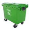 Thùng rác công nghiệp 660 lít màu xanh lá